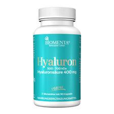 BIOMENTA HYALURONSÄURE 400 mg HOCHDOSIERT | 90 Hyaluron-Kapseln ohne Trennmittel
