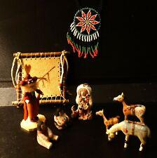 VINTAGE  INDIAN   MINI FIGURE SET with  indian 's decorates