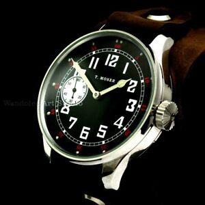Moser Vintage Mens Wrist Watch Military Stainless Steel Men's Wristwatch Swiss