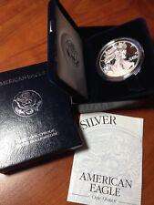 1999 P PROOF AMERICAN SILVER EAGLE COIN - BOX & COA - DEEP CAMEO FRESH AC