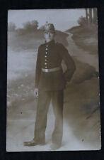 Altes Portrait Foto Soldat mit Tschako Jäger Ersatz Bataillon 1. WK