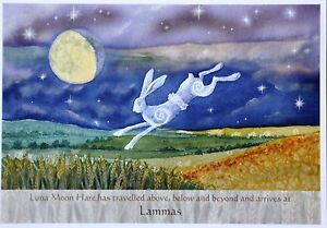 Wendy Andrew Pagan Hare card wicca wheel of the year lammas equinox solstice
