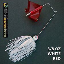 Buzzbait STEALTH 3/8 oz WHITE RED buzz bait buzzbaits. KVD trailer hook