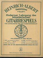 Moderner Lehrgang des künstlerischen Gitarrenspiels  von Heinrich Albert 3. Teil