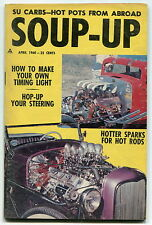 "1960 ""SOUP-UP"" Hot Rod Magazine w/ Go-Karts, Triple Threat Coupe, SU Carbs +"