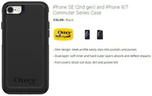 Otterbox COMMUTER Series Case for Apple iPhone 8/7/SE(2nd Gen) - Black