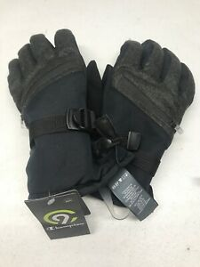 C9 Champion Mens Ski Gloves Water Proof Duo Dry Black Green Size L/XL