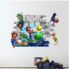 wall stickers Super Mario Luigi removable decor decal kids home large PVC nusery