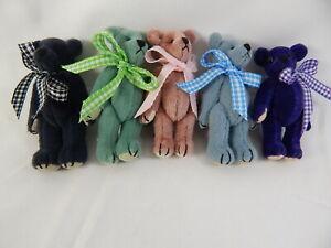 """World of Miniature Bears By Theresa Yang 3"""" Cashmere 5 PCS SET  #5369SET Closing"""