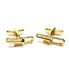 Brass Band Golden Trombones Cufflinks X2AJ233