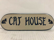 Ceramic Cat House Signs For The Cat Lover