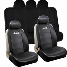 Jeep Mopar Elite Classic Sideless Synthetic Leather Seat & Elegant Bench Cover
