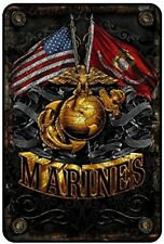 Marines metal sign . Semper Fidelis / Semper Fi / Us Marine Corps Sign