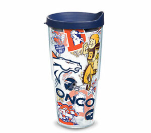 DENVER BRONCOS, 24oz DOUBLE WALL,TUMBLER FROM TERVIS  WITH LID INCLUDED
