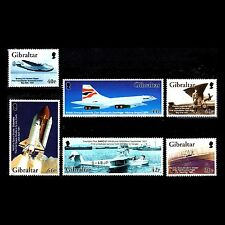 Gibraltar 2003 - The 100th Anniv of Flight Aviation Airliners - Sc 932/7 MNH