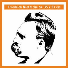 FRIEDRICH NIETZSCHE Wandtatoo, ca. 35 x 31 cm, Hochleistungsfolie mit Montagep.