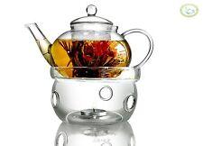 Heat resistant Glass Teapot 17oz(500ml) + Candle Warmer Base Teapot