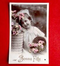 CPA. 1908. BONNE FÊTE. ENFANT. Fleurs.