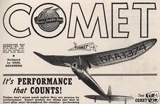 "Model Airplane Plans (FF): Vintage 1940 Comet SAILPLANE 78"" by Carl Goldberg"
