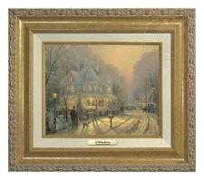 Thomas Kinkade A Holiday Gathering 9 x 12 Canvas Classic (Gold Frame)