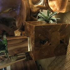 wooden solid Walnut slabs oil finish side/end table  dog house/planter #2