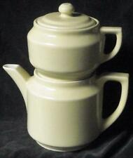 Wonderful Vintage Teapot, with Steeping/Brewing Pot on Top - Ceramic - VGC