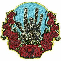 GRATEFUL DEAD - GARCIA HAND & ROSES - EMBROIDERED PATCH - BRAND NEW - MUSIC 4548