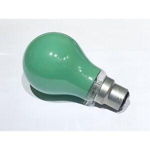 Green B22 25W BC GLS Lamp Green Light Bulb Bayonet Cap Festoon Lamp (Pack of 3)