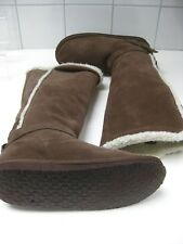Ladies NINE WEST real suede knee high BOOTS size UK 5.5 6 6.5 flats snow winter