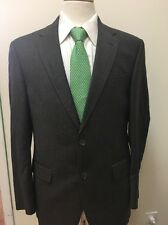 $1,978 Coppley Men's CANADA Made Dark Brown Plaid 100% Wool Suit 40R 36x31