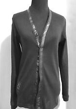 G Star Raw Denim Womens Black V Neck Cotton Cardigan Size Small NWOT