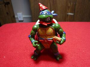Vintage 1992 Teenage Mutant Ninja Turtle TMNT Bodacious Birthday Leonardo w/cape
