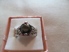 Lab-Created Round Not Enhanced Fine Gemstone Rings