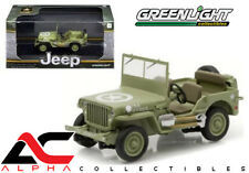 GREENLIGHT 86307 1:43 1944 JEEP WILLYS C7 US ARMY GREEN STAR ON HOOD w/W/ CASE