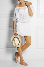 MELISSA ODABASH MICHELLE EMBROIDERED VOILE KAFTAN DRESS SMALL