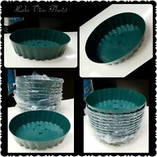 10 Oval Floral Design Plastic Trays