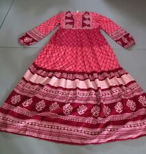 Beatiful long red dress with floral motif,100% Polyester,size M, Brand New!