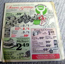 RARE vintage Christmas 1976 D'Amour's BIG Y Grocery Store flier SUPERMARKET MA