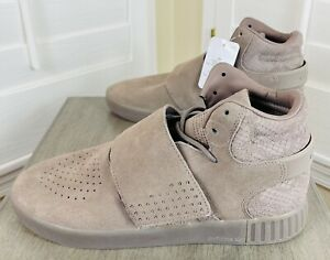 New Adidas Tubular Invader Strap Sand Suede Casual Sneakers, CG5068, Men's Sz 9