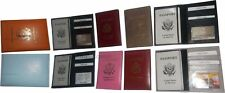 7 New USA Leather passport case wallet credit ATM card case ID holder brand nwt