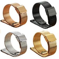 Cinturino Orologio Maglia Milano Mesh Bracciale Ricambio 16-18-20-22mm 5 Colori.