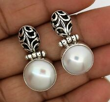 +Perl Earring Solid  Sterling silver 925 Handmade Natural Gemstone