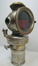 *Rare 19c BUNDY Bicycle Lamp green red jeweled antique bike motorcycle light HtF