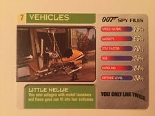 You Only Live Twice Little Nellie #7 Vehicles - 007 James Bond Spy Files Card