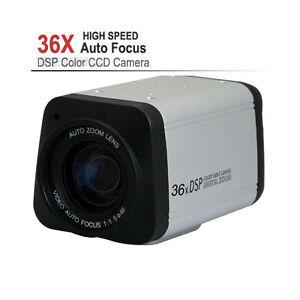 "CCTV 1/4"" Sony 1200TVL 36X Optical Zoom DSP Color Video Box Camera Auto Focus"
