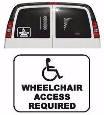 accès CHAISE ROULANTE requis Voiture/Sticker Camion, 11 Colours, handicapé,