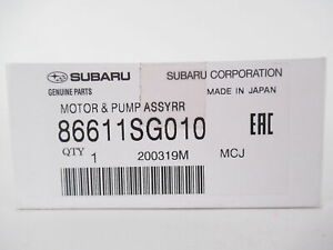 Genuine OEM Subaru 86611SG010 Rear Washer Pump Motor Assy