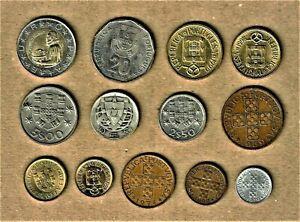 Republique Portuguesa, 13 coin lot w/ 1943 Silver coin + Bimetallic coin & more
