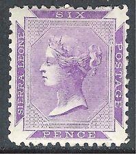 Sierra Leone 1872 reddish-violet 6d perf 12.5 mint SG3