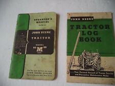 "Vintage John Deere Model ""M"" Tractor operator's manual & Log Book"